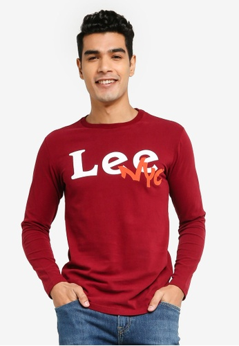 Lee red Graphic Long Sleeve Tee F04C3AAFF64D37GS_1