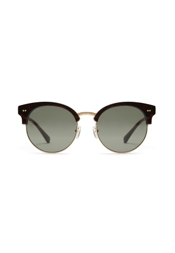 Kapten & Son brown and green Capri - Tortoise/Green AC934GLF55438AGS_1