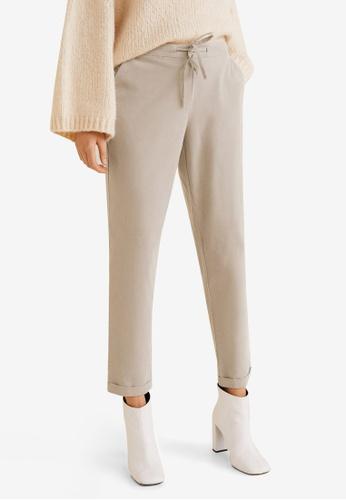 Mango grey Cotton Corduroy Trousers E1B69AA4605C2EGS_1