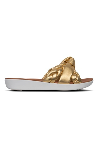 FitFlop gold Fitflop Braid Leather Slides Artisan Gold C9688SHC8F9FD4GS_1