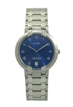 Image of ALBA Jam Tangan Pria - Silver Blue - Stainless Steel - AVKA91