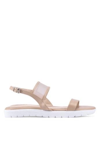 Bata beige Mesh Strap Sandals 4ABDFSHD4B4F0FGS_1