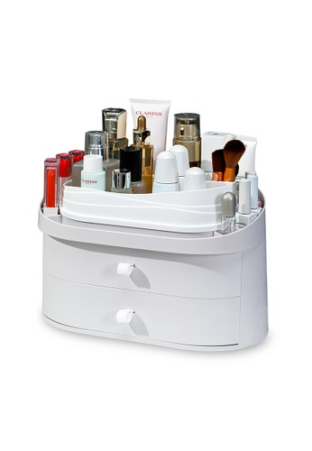 HOUZE HOUZE - Cosmetic Table Organiser with Double Drawer F3946HL4C151B7GS_1