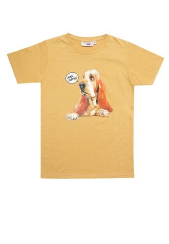 Hush Puppies brown Lincoln Tee C6484KA91EAC7AGS_1