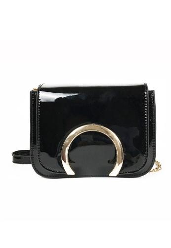 Lara black Women's Small Front Flap Sling Bag 87DDCAC49BD1C0GS_1