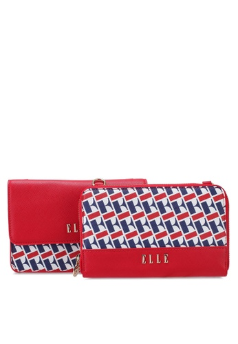 ELLE red Quintina Detachable 2 in 1 Sling Bag 67807ACCF55FA7GS_1