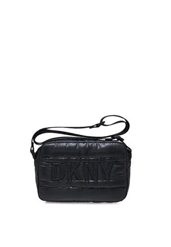 DKNY black DKNY Women Georgina Camera Bag With Logo Print 425F4ACBD7227DGS_1