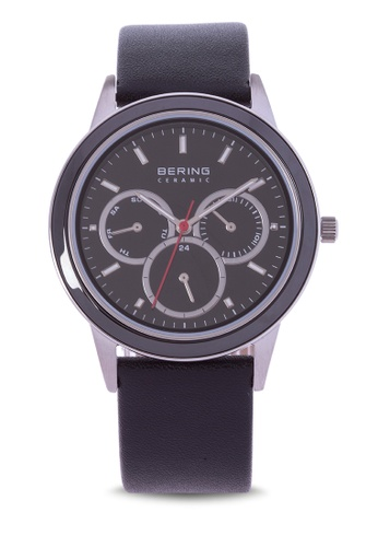 Bering silver Ceramic Watch with Leather Strap 5D9D3AC6B40D45GS_1
