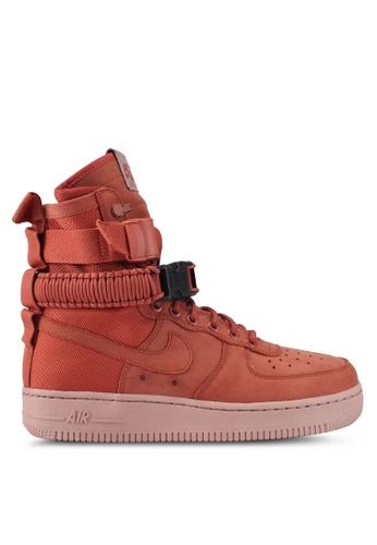 Nike pink Women's Nike SF Air Force 1 Shoes NI126SH0STQUMY_1