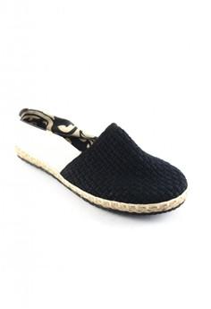 Habi Footwear Men's Classic Espadrilles - Black/White