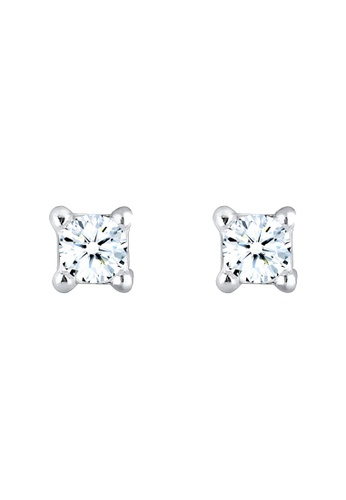 Elli Germany silver Elli Germany Earrings Basic Diamond (0.12 Ct.) 925 Sterling Silver 63C80ACEF61531GS_1