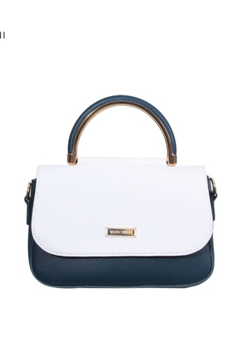 Verchini blue Verchini Angular Flap Metallic Top Handle Bag 95F68AC4F4D9B7GS_1