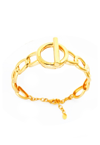 TOMEI gold [TOMEI Online Exclusive] Anastasia with Sophisticated Glamour Bangle, Yellow Gold 916 (AS-YG1249B-1C-160) 74D3AAC319E096GS_1