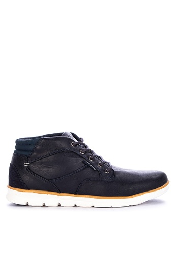Alberto navy Casual Laced Up High Top Sneakers 0F2D7SH0703C81GS_1