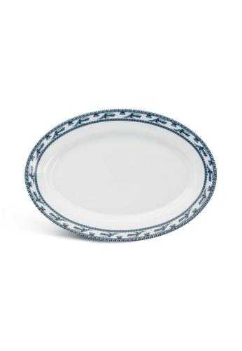 Minh Long I white Annam Bird: Porcelain Oval Plate (28cm) B2358HL8D9CB26GS_1