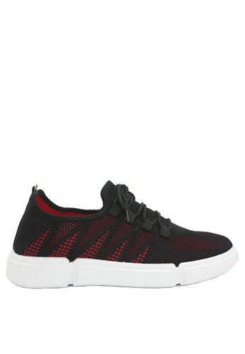 Dr. Kevin black and red Dr. Kevin Men Sneakers 13390 - Black/Red 2F3D3SHC32D487GS_1