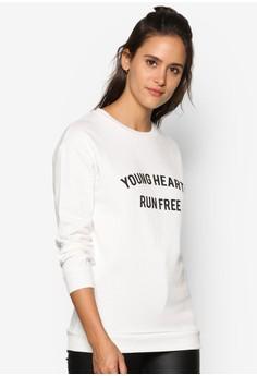【ZALORA】 Young Heart Run Free 長袖衫