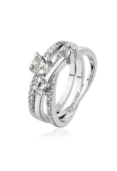 Vermina 18K White Gold Plated Ring Size 8