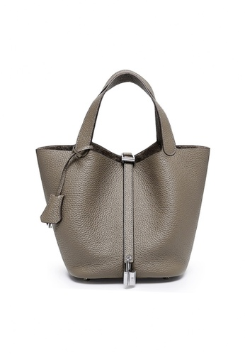 Twenty Eight Shoes grey VANSA Simple Leather Bucket Hand Bag VBW-Hb928700S 894CBACE5703DCGS_1