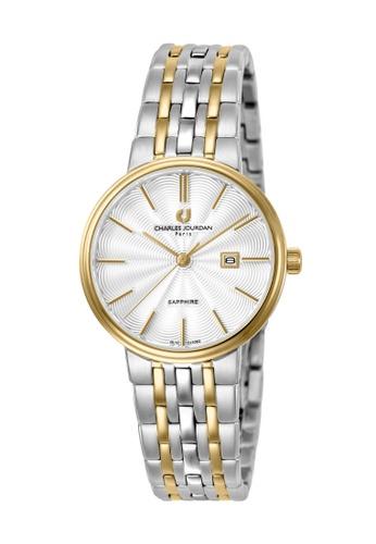 Charles Jourdan silver Charles Jourdan Ladies Watch Elegance Quartz CJ1062-2112 8D54DAC7F3CD38GS_1