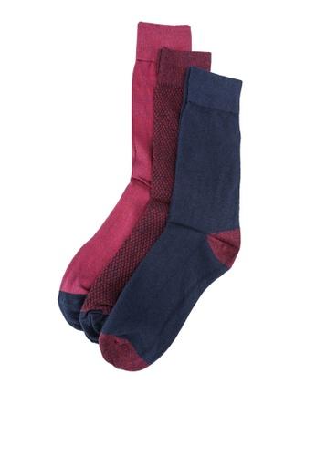 OVS blue 3-Pair Crew Socks F20FFAA0F2386BGS_1