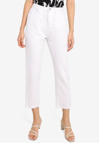 ZALORA BASICS white Mom Fit Denim Jeans CD54DAAA662617GS_1