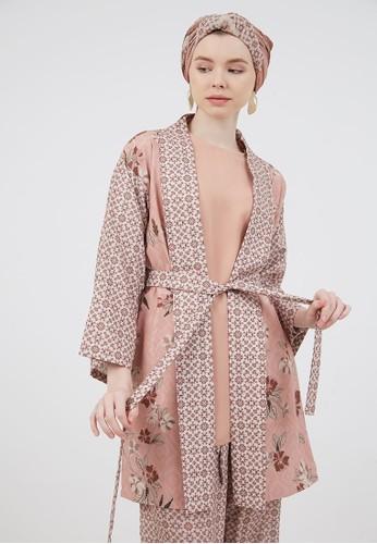 Berrybenka Label pink Delia Outer Kimono Peach 0EF47AA06A912EGS_1