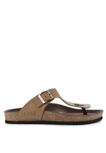 CARVIL brown Sandal Footbed Men Kenzo-01M D4D5BSHD28E460GS_1