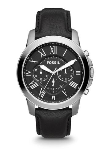 08e9272442f8 Fossil black Fossil Grant Black Watch FS4812IE 6CE9BAC96F798FGS 1