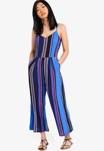 Something Borrowed black and multi Cami Culotte Jumpsuit CAF1AAA346D8DAGS_1