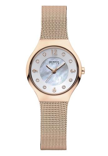 Bering gold Solar 14427-366 White 27 mm Women's Watch 5E9A0AC6C68B59GS_1