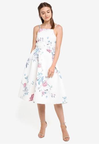 ZALORA multi Bridesmaid Cut-In Pleated Midi Dress 86B0DAAB5AEA87GS_1