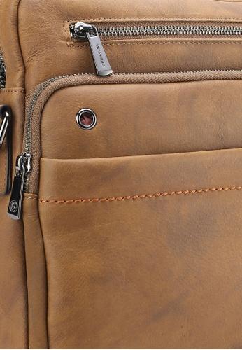 Volkswagen brown Genuine Leather Messenger Bag VO089AC41MVEMY_1
