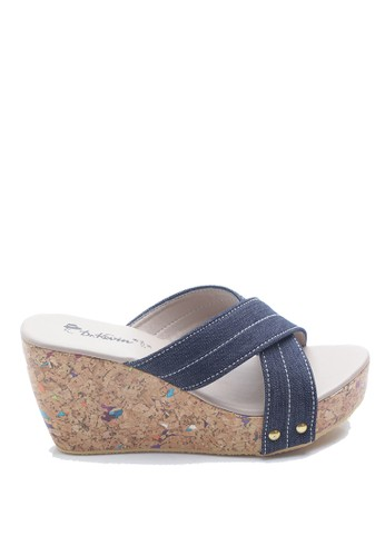 Dr. Kevin blue Dr. Kevin Women Wedges Sandals 27354 - Blue DR982SH69ILIID_1