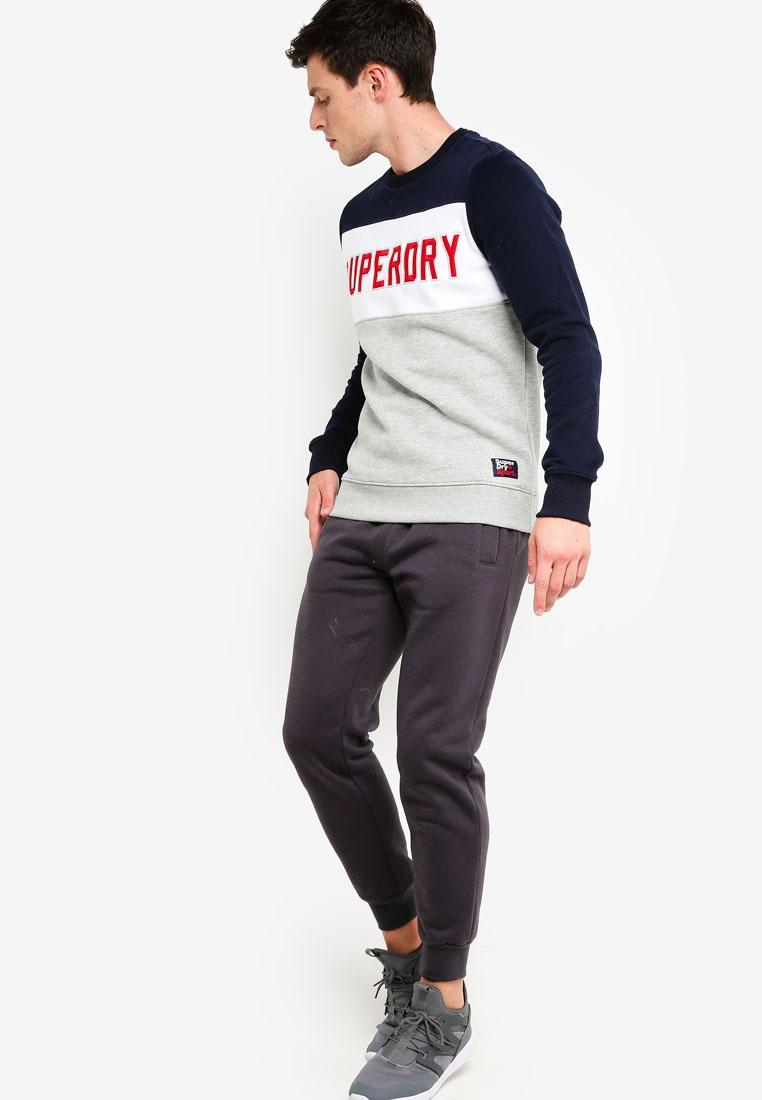 Block Optic Crew Colour Sweatshirt Grey Academy Marl Navy Superdry wdYqvx55E