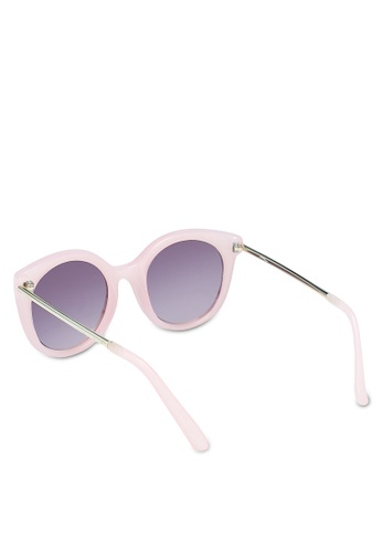 6f2c470b3d Buy Jeepers Peepers Pink Round Cat Eye Sunglasses Online on ZALORA Singapore