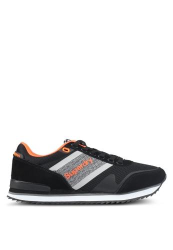 Superdry black and orange Fero Runner Trainers FBEBCSHF8677BBGS_1