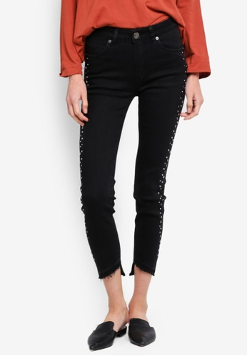 Cotton On black Mid Rise Grazer Skinny Jeans 6D761AAC10720CGS_1
