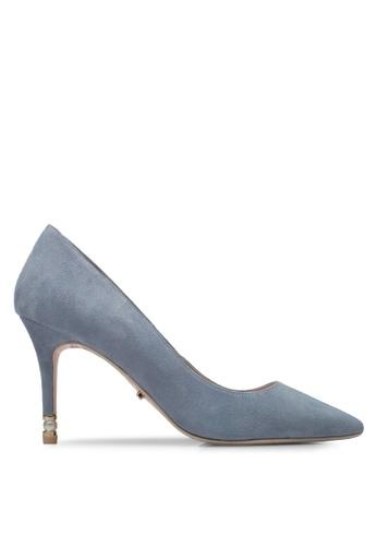 Dune London blue Pearl Heel Point Court Heels 7D120SH419D7CBGS_1