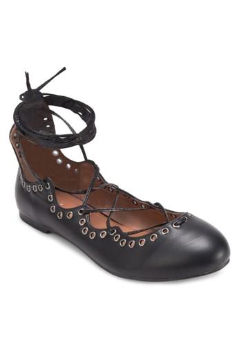 Maybelle 金屬孔繫帶平底esprit鞋子鞋, 女鞋, 鞋
