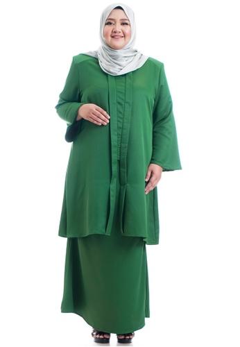 Ashura green Azarein V-shaped Kebarung Plus Size 97FE2AAD3DD2ECGS_1