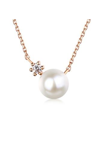 SUNSET 金色 Premium 14K Gold Pearl Necklace 99261AC2700860GS_1