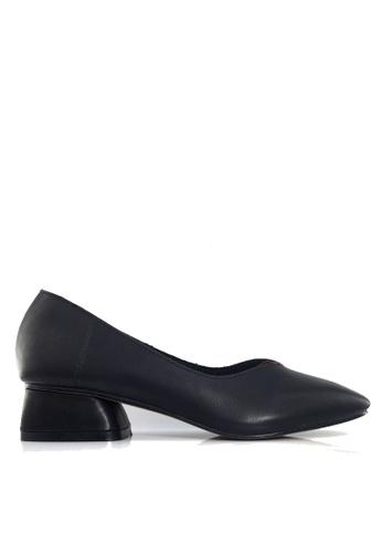 Twenty Eight Shoes 黑色 復古牛皮矮跟鞋 VL8181 E68D2SH0E7D035GS_1