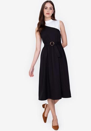 ZALORA WORK multi Colourblock Fit And Flare Dress 3FA9CAA8808FF9GS_1