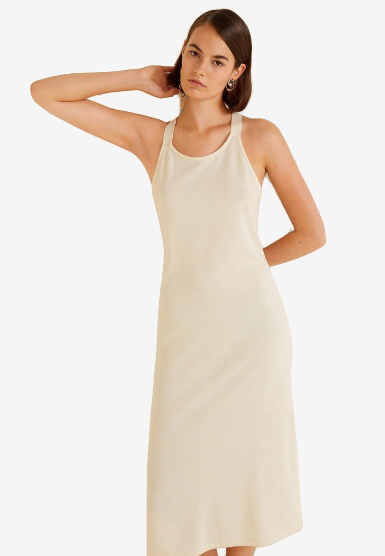 Dress Wrap Back Beige Mango Light Pw5wHpq