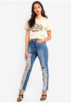 3be0d4abaa11 15% OFF MISSGUIDED Chicago Leopard Graphic T-Shirt RM 69.00 NOW RM 58.90  Sizes S M