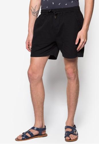 Stealth 彈性抽繩休閒短褲, zalora 心得服飾, 短褲