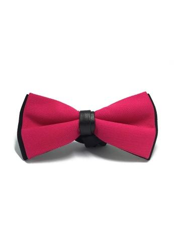 Splice Cufflinks Sassy Series Pink Cotton Pre-tied Bow Tie SP744AC00LALSG_1