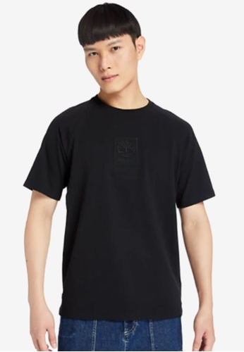 Timberland black Heavyweight Logo T-Shirt A9370AA557213FGS_1