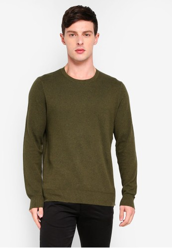 J.Crew green Pique Crew Neck Sweater 5846CAA90186EEGS_1
